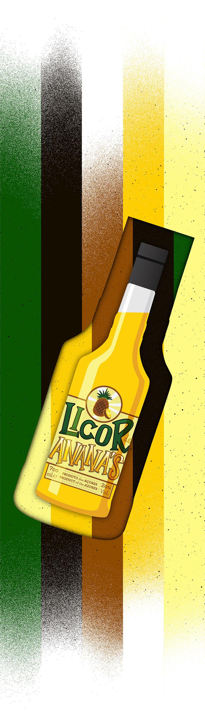 Liqueur labels