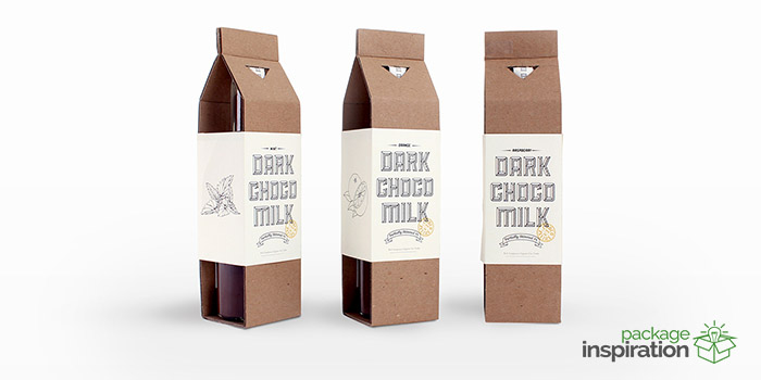 Dark Choco Milk Beverages Package Inspiration