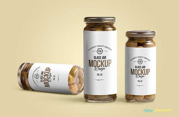 Free Glass Jar Mockup2