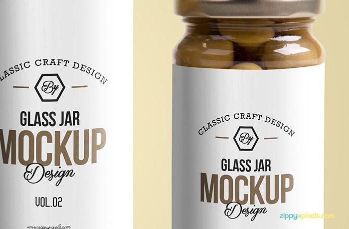 Free Glass Jar Mockup3
