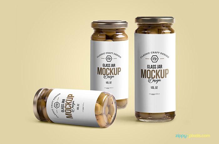 Free Glass Jar Mockup5