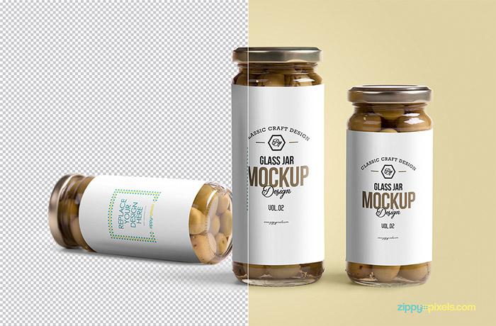Free Glass Jar Mockup6