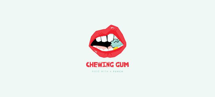 chewing gum rosé1
