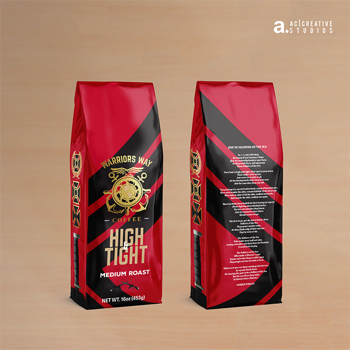 Coffee Packaging Design for Warriors Way Coffee by accs.design 3