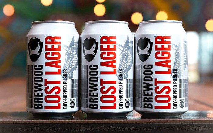 B&B studio - Lost Lager cans